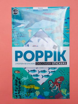 Poster géant poppik animaux des océans
