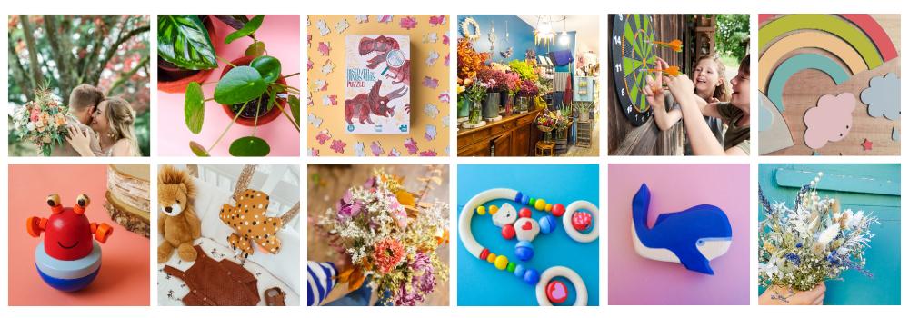 kraft fleurs et jouets bordeaux